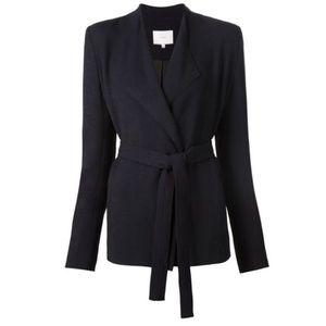 NWT // IRO Cleland navy draped blazer w/ b…